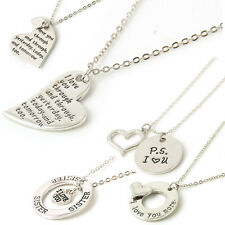 2018 Newest Family Love Series Statement Bid Pendant Necklace Jewelry Love Gift