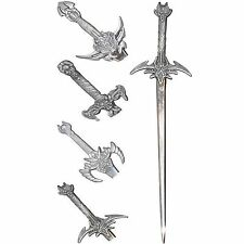 Sword Letter Opener Envelope Paper Knife Metal Pewter Silver Gothic Miniture