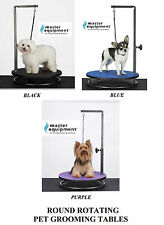 PRO ROUND ROTATING PORTABLE SMALL PET Dog Cat GROOMING TABLE w/ARM,CLAMP&LOOP