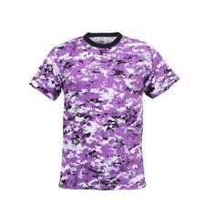 Rothco Digital Camo Camouflage Poly Cotton T-Shirt, Ultra Violet