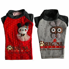 Cute Doll Red/ Grey Dog T-Shirts Tee Shirts Pet Apparel Dog Clothes XS S M L