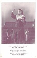 Miss Helen Coulthard - The Girl Preacher - from Bolton? - old postcard