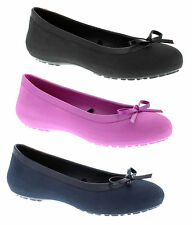 Crocs Mammoth Bow Flat Ballerina Womens Pumps Shoes Slip On Ballet Flats