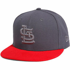 St. Louis Cardinals New Era Poptonal 59FIFTY Fitted Hat - Graphite/Red - MLB