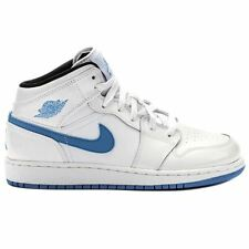 Nike Air Jordan 1 Mid White Youths Trainers