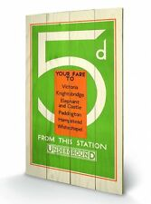 London Underground Transport Green Wooden Wall Art Officially Licensed