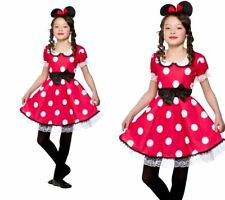 Cute Minnie Mouse Outfit Girls Book Week Fancy Dress Costume Age 3/13