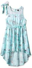 Pogo Club Girls Cherry Blossom Chiffon Dress with Headwrap Size 4 5/6 6X $40