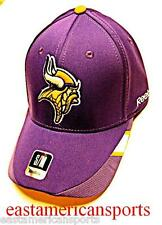 Minnesota Vikings Reebok Sideline Purple Coaches Hat Cap Logo Flex Fitted S/M