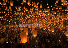 Chinese Sky Lanterns Party Wedding Fly  Lamp Fire Candle Paper WB