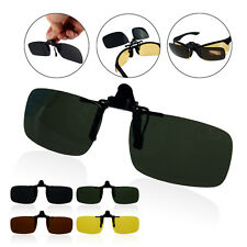 Polarized Night Vision Glasses Clip On Flip Up Plastic Driving Sunglasses
