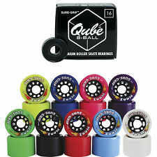 Indoor Roller Skate Wheels with Bearings - Sure Grip Zoom w/ Qube 8 Ball Bearing