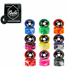 Indoor Roller Skate Wheels with Bearings Sure Grip Twister Qube 8 Ball Bearings