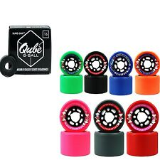 Indoor Roller Skate Wheels with Bearings Sure Grip Fugitive Qube 8 Ball Bearings