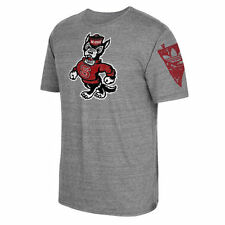 Men's adidas Heathered Gray NC State Wolfpack Logo Tri-Blend T-Shirt - College