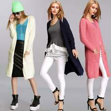 Womens Casual Long Knitwear Buttons Cardigan Outwear Coat Jacket Sweater ES9P