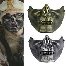 Skull Skeleton Airsoft Game Hunting Biker Half Face Protect Gear Mask Guard WF