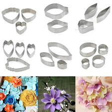 Flower Leaf Shape Stainless Steel Biscuit Baking Mold Fondant Cake Cookie Cutter