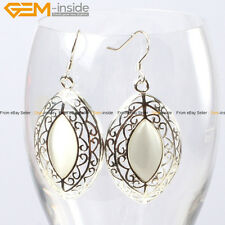 GEM-inside Fashion 24x38mm Marquise Beads Tibetan Silver Dangle Earrings 1 Pair