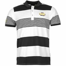 Everlast Mens Yarn Dye Stripe Polo Shirt Short Sleeve Casual Tee Top