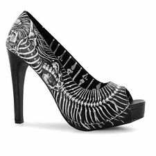 Iron Fist Womens Bone Platform High Heels Shoes Print Ladies Pumps Open Toe