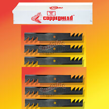 "6  Commercial Heavy Duty  Multching Copperhead  Mower Blades 36"" OR 52"" Cut"