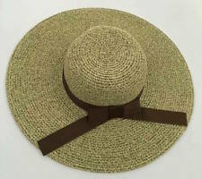 New Women's Crushable Packable Wide Brim Straw Floppy Hat Ribbon SPF50 Beach