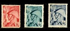 ROMANIA REVENUE STAMPS 1943 LIBERATION DAY 3 STAMPS MNG WINTER SUPPORT