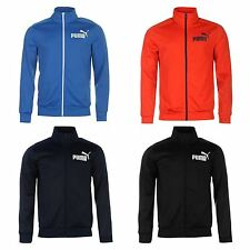 Puma Mens Track Jacket Outerwear Full Zip Mock Neck Long Sleeve Ribbed Cuffs