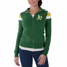 Oakland Athletics '47 Women's Crossover Full Zip Track Jacket - Green - MLB