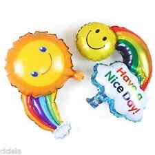 Utility 1Pcs Smile Face Rainbow Foil Ballons Birthday Party Wedding Decor Hot