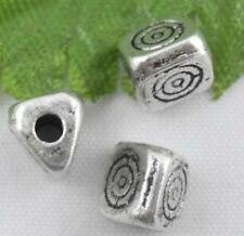 wholesale 60/200Pcs Silver Plated  Spacer Beads 5.5mm (Lead-Free)