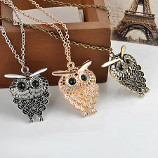 Retro Fashion Vintage Owl Pendant Long Chain Sweater Necklace Jewelry Pop Gift