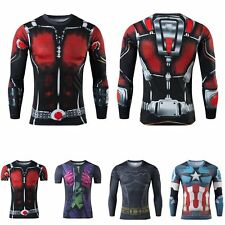 Superhero DC Comics Compression T-shirts Short Long Sleeve Cycling Men T Shirt