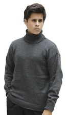 Men's Soft Alpaca Wool Knitted Turtleneck Solid Sweater