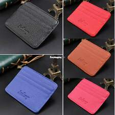 Fashion Mens PU Leather Bifold Wallet Credit/ID Card Holder Slim Coin Purse