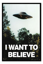 Framed I Want To Believe X-Files UFO Poster New