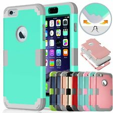 Shockproof Hybrid 3in1 Rugged Rubber Case Cover Skin for iPhone 6&6s 4.7/Plus SE