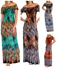 Maxi Dress Ladies Long Summer Party Evening Womens Beach Boho Size 10 12 14 16