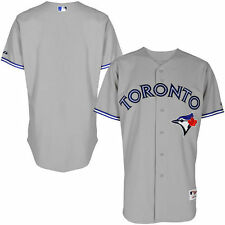 Men's Majestic Gray Toronto Blue Jays Team Cool Base Road Authentic Jersey - MLB