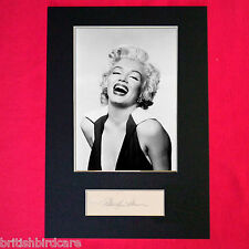 MARILYN MONROE Mounted Signed Photo Reproduction Autograph Print A4 218