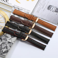 18 19 20 21 22mm Genuine Leather Watch Band Rose Gold Buckle Strap For Longines