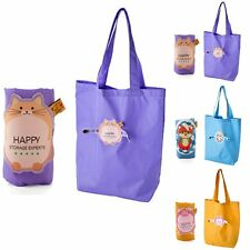 Reusable Foldable Shopping Tote Eco Friendly Cute Grocery Storage Bag Handbag