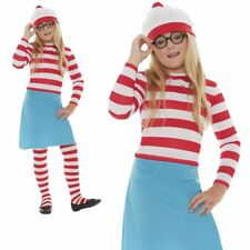 Child Wheres Wally Costume Girls Licensed Book Week Fancy Dress Outfit
