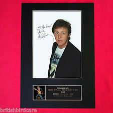 PAUL McCARTNEY Autograph Mounted Signed Photo RE-PRINT A4 169