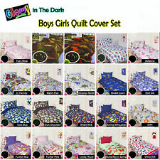 GLOW IN THE DARK - BOYS GIRLS Quilt Cover Set - SINGLE DOUBLE QUEEN
