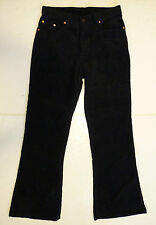 SALE! NEW MENS RETRO 60s 70s MOD INDIE FLARED CORDUROY FLARES CORDS (BLACK) k37