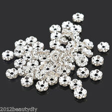 Wholesale Silver Plated Rondelle Spacer Beads 6mm