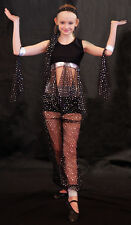 BLACK & SILVER Belly Dancer-Bollywood-SLOW DANCE Fancy Dress/Dance Show Costume