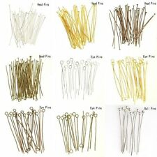 100pcs Silver Golden Head/Eye/Ball Pins Finding 21 Gauge